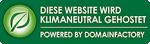 Diese Webseite wird klimaneutral gehostet. Klimaneutrales Webhosting bei domainFACTORY